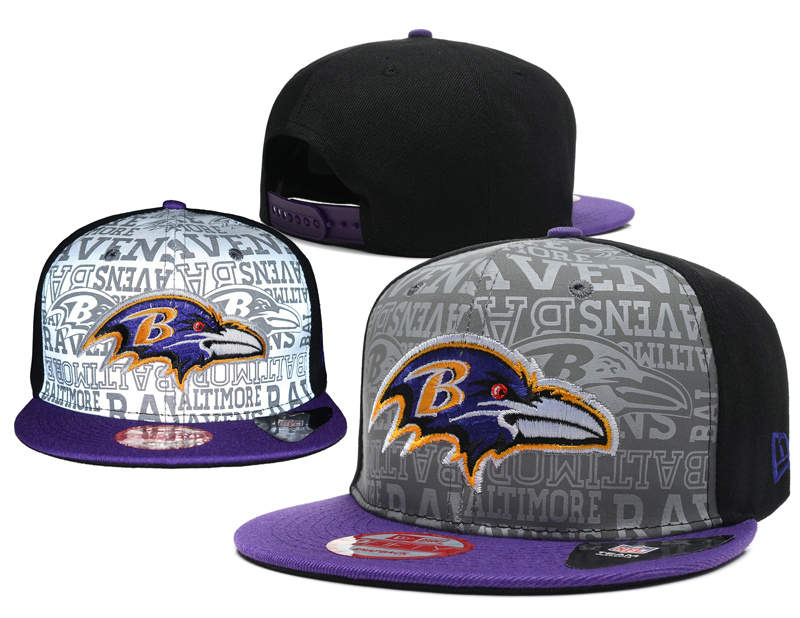 Baltimore Ravens 2014 Draft Reflective Snapback Hat SD 0613